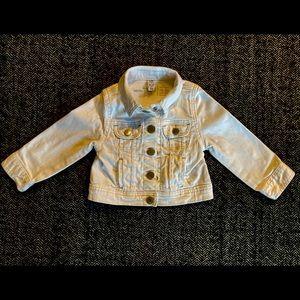 COPY - Gap white jean jacket size 18-24